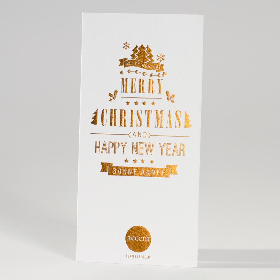 Weihnachtskarte im Luxus Letterpress