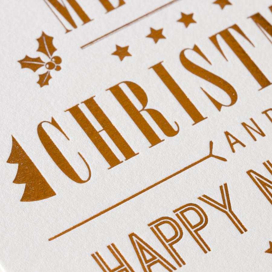Stilvolle Weihnachtskarte im Luxus Letterpress
