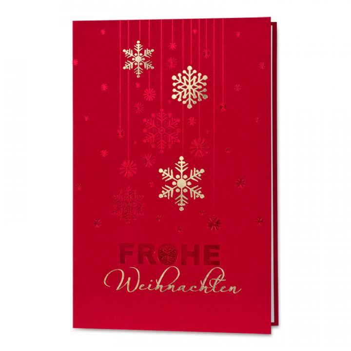 Stilvolle Rote Weihnachtskarte Für Firmen Mit Dekorativen
