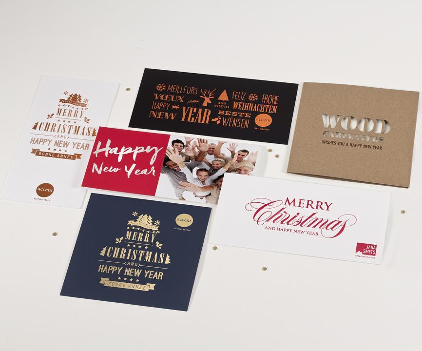 Individuelle Weihnachtskarten.Design Service Bueromackarten